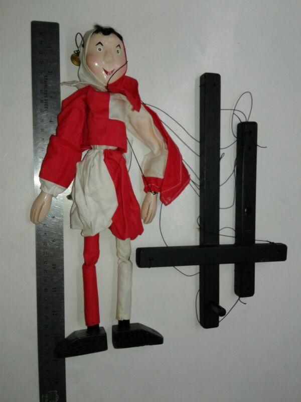 Vintage Marionette String Puppet Jester Clown
