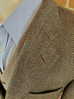 Gieves & Hawkes No 1 Saville Row 46 R Brown Herringbone Weave Blazer Cashmere