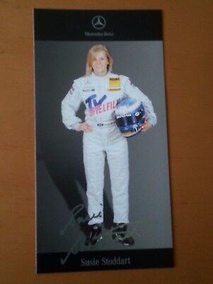 Susie Stoddart DTM 2007 Autogrammkarte gedruckte Unterschr. von Mercedes