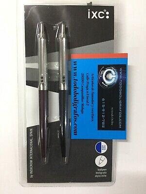 Bolígrafo 55 davidelfin azul marino blanco Inoxcrom