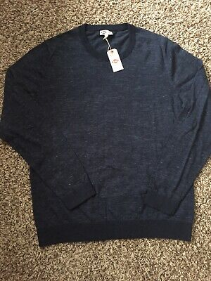 *New* Lee Cooper Men`s Lightweight Crew Neck Sweater ( Navy Heather, L) for sale  Shipping to India