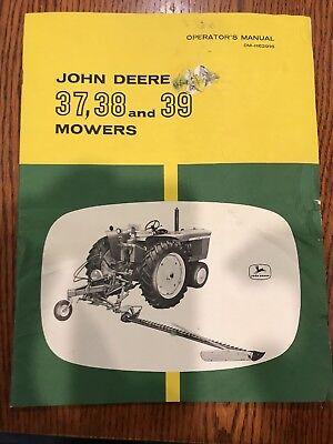 John Deere 37, 38, & 39 Mowers Operator's Manual OM-H61401