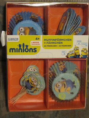 Minions Backzubehör Kuchendekoration Kindergeburtstag  Backset