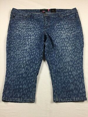 NWT Torrid Denim 26 Leopard Print Capri Jeans