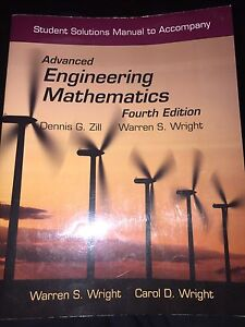 Solutions: Advanced Engineering Mathematics (4th Edition)