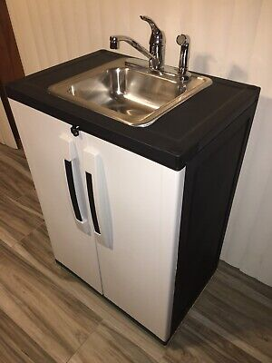 Portable Sink Mobile Handwash Self Contained Hot Cold Water Concession.