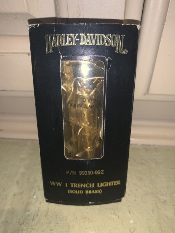 Vintage Harley-Davidson WWI Trench Lighter - Solid Brass - 1989 - P/N 99150-89Z