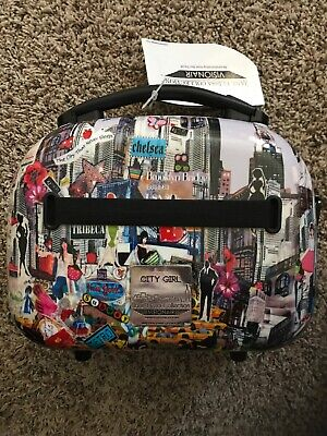 New Jane Elissa Collection Visionair Luggage City Girl 12'' Hardside Beauty Case