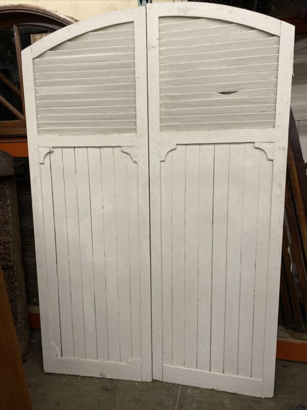 Spanish Style Old Wooden Storm Shutters Semi Arched 85x56