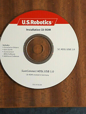 Used, Vintage U.S. Robotics SureConnect ADSL USB 1.0 Modem - Installation CD-ROM   for sale  Shipping to Nigeria