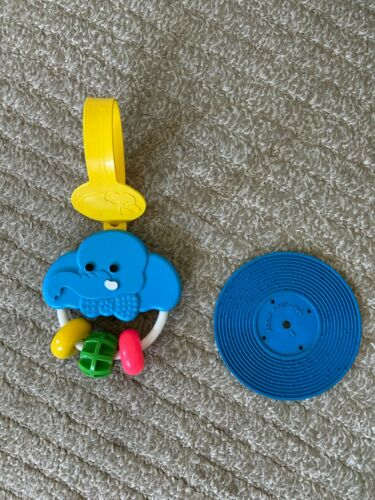 Vintage 1983 Fisher Price Crib One Ring Circus Activity #619 Toy Blue Record