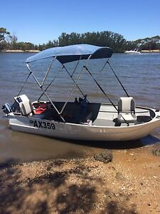3.62 meter/11.8ft tinny Clark Cutter tinny with 15hp Evinrude Leeming Melville Area Preview