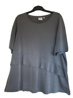 Ladies Junarose Grey Frill Top Size 24_26
