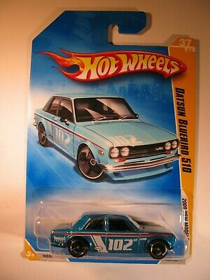 Hot Wheels 2009 #37 Datsun Bluebird 510 Metallic Blue Variation (Error)