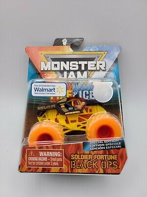Spin Master Monster Jam Fire and Ice Soldier Fortune Black Ops Walmart Exclusive