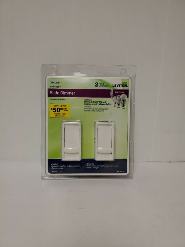 Leviton Dimmer Switch 2 Pack Decora Sureslide Dimmable Led