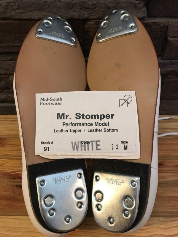 Mr. Stomper Size 13 M (medium) MENS Clogging  Shoes With Steven Stomper Taps