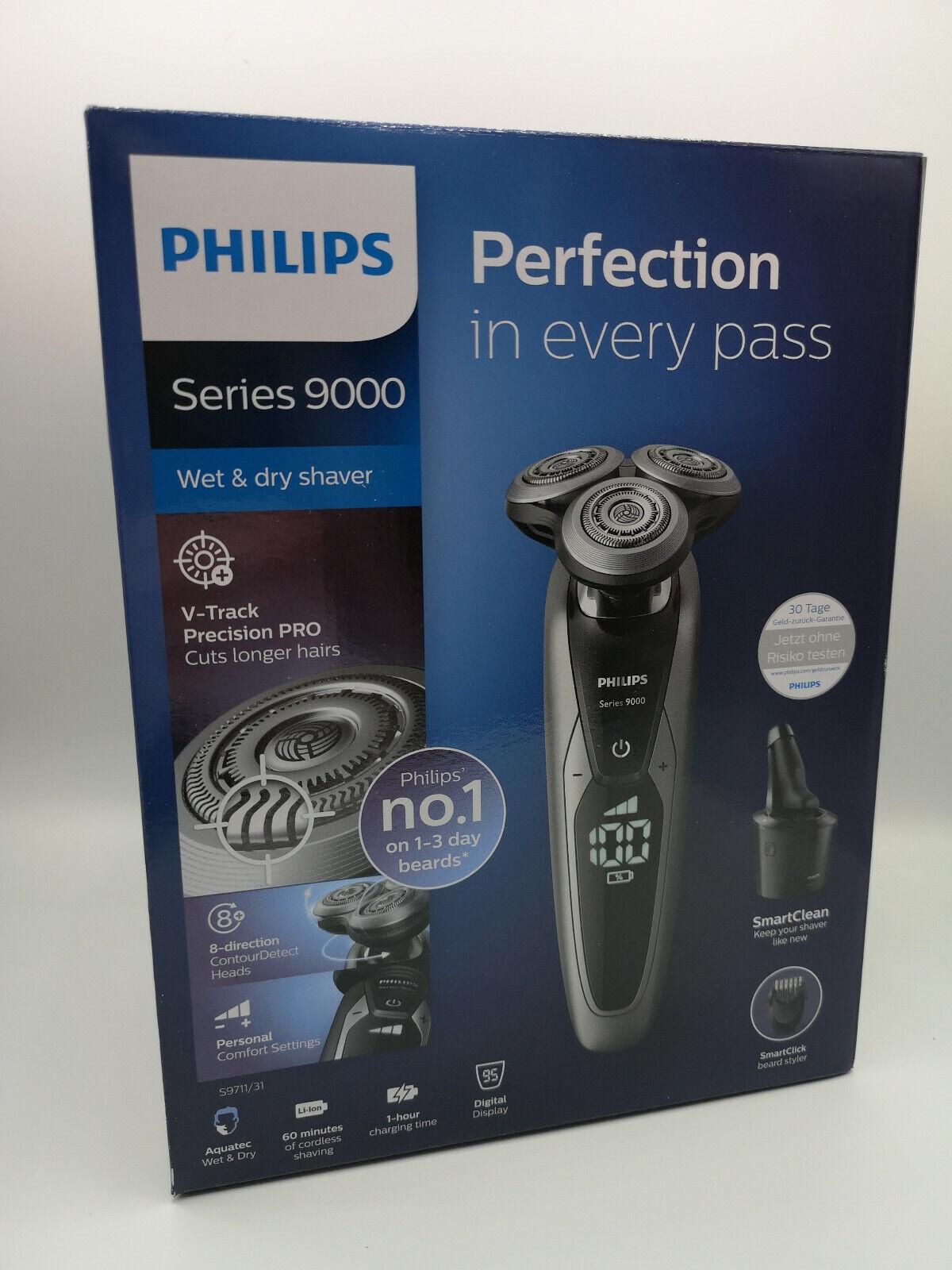 Philips Series 9000 S971132 Nass Trocken inkl Bartstyler Reinigungsstation