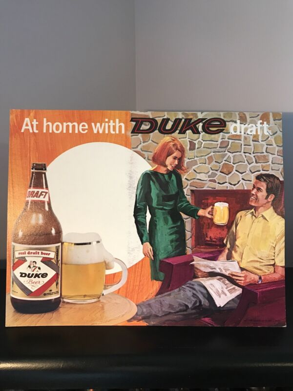 Duke Easel Beer Sign Duquesne Brewery Pittsburg