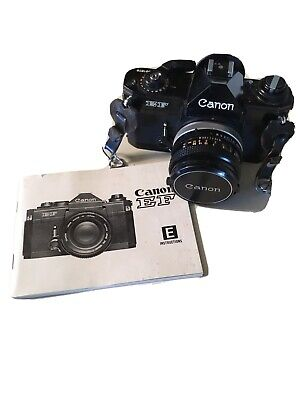 Canon E F Camera With 50 Mm 1:1.8 S.C Lens With Book