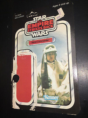 Vintage Star Wars cardback Card Back ESB Rebel Commander hoth POP cut out 1980