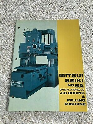 Mitsui Seiki 5a Optical Jig Boring And Milling Machine Sales Catalog