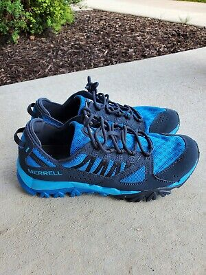 Merrell Mens Blueberry Performance Footwear Hiking Active Sneakers Size 9 NEW