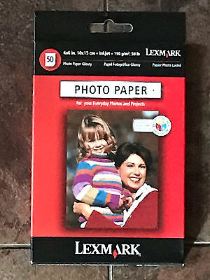 Lexmark  19Y0067 4 x 6 Inch Photo Paper Inkjet Printers 50 Sheets