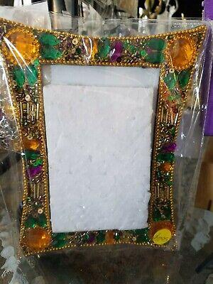 Mardi gras 4 x 6 jewel PGG picture frame, Mardi Gras decor