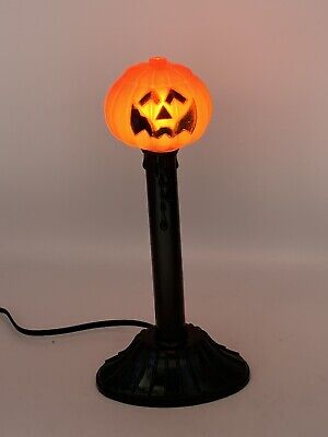 Vintage Halloween Candle Stick Lights Blow Mold Pumpkin Jack-O-Lantern Blowmold
