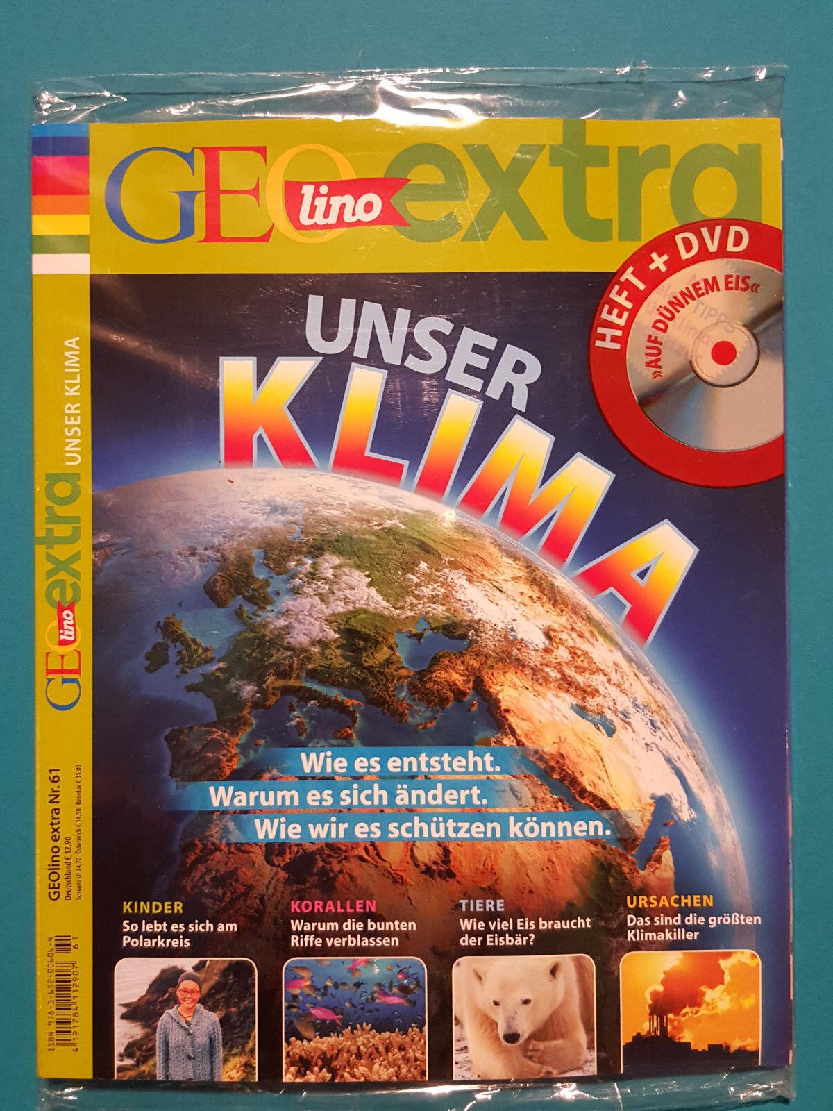 Geolino Supplementare Nr.61 aus 2016 mit DVD il sottile Eis non-letto 1A