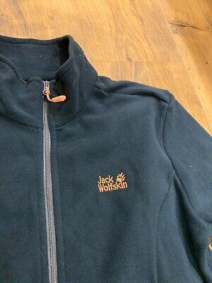 Jack Wolfskin Nanuk Blue Zip Thru Fleece Jacket 12 Worn Once