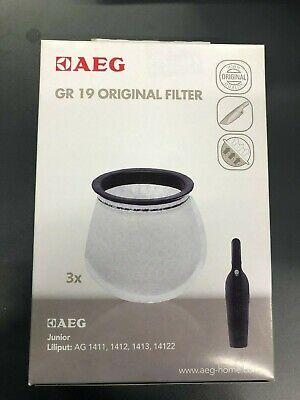 Original AEG GR 19 Staubsaugerfilter 3 Filter für Junior/Liliput 9000876020, neu gebraucht kaufen  Borken