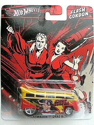 Hot Wheels Flash Gordon Volkswagen T1 Drag Bus Pop Culture 2012 W/ REAL RIDERS