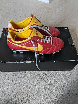 Brand New Ultra Rare Nike Tiempo Air Legend II FG Size 9 US, Red and Yellow