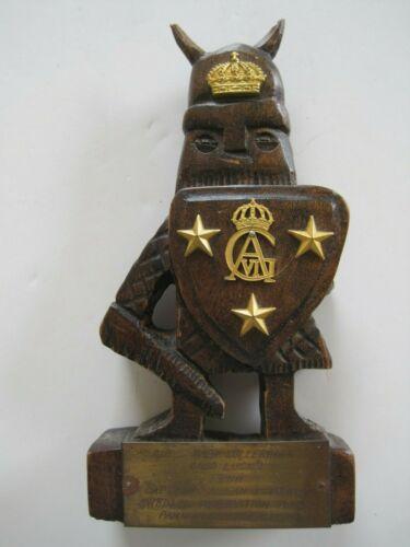 1970 Vintage Wood Viking Figurine for Swedish Delegation NNSC Panmunjon Korea