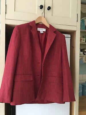 Jones New York lined linen jacket/blazer. 10/12 38 in chest. Summer