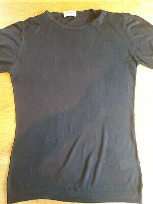 John Smedley 100% Silk Short Sleeve Sz M T Shirt