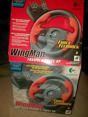 Logitech Wingman Formula Force GP Racing Steering Wheel w/ Pedals New  Open Box  for sale  Shipping to South Africa