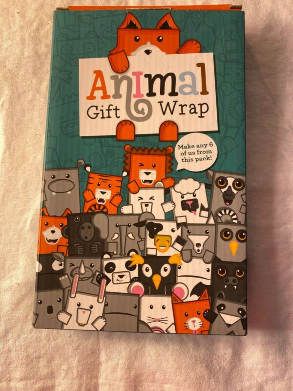 Animal Gift Wrap Wrapping Paper Make 6 Cardboard Animal Shaped Gifts By Luckies