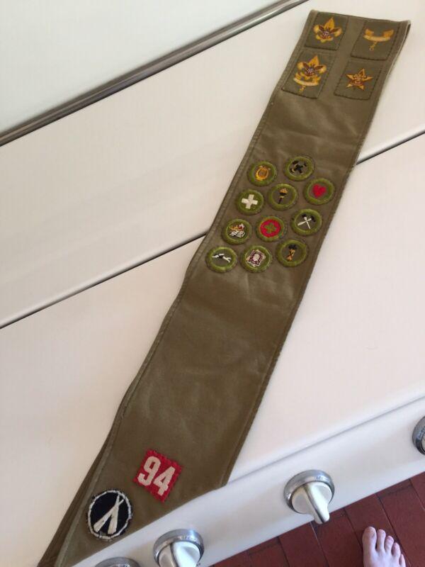 Early Vintage Boy Scout Merit Badge set / sash Nice