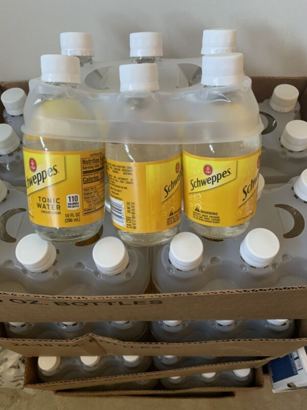 6 PACK  PURE TONIC WATER SCHWEPPES Caffeine Free Contains Quinine