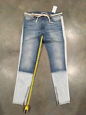 Bleach Wash Denim (Golden Denim Light Wash/bleach Fade Tapered Jeans Sz.38 NWT 100% Authentic)