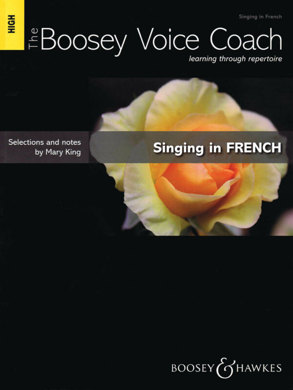 Singing in French High Voice Music Lessons Boosey Voice Coach Book