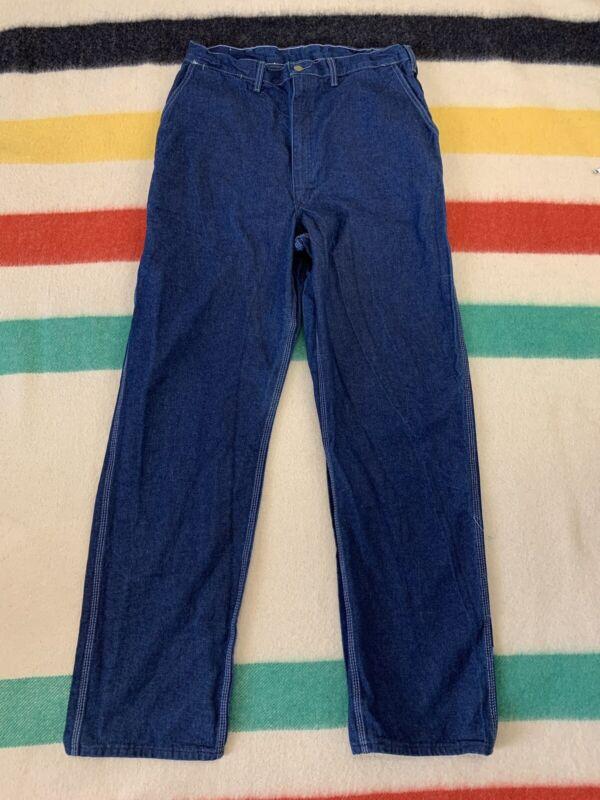 Vintage 70 Osh Kosh Sanforized Denim Dungaree Jeans Pants Sz 34x33