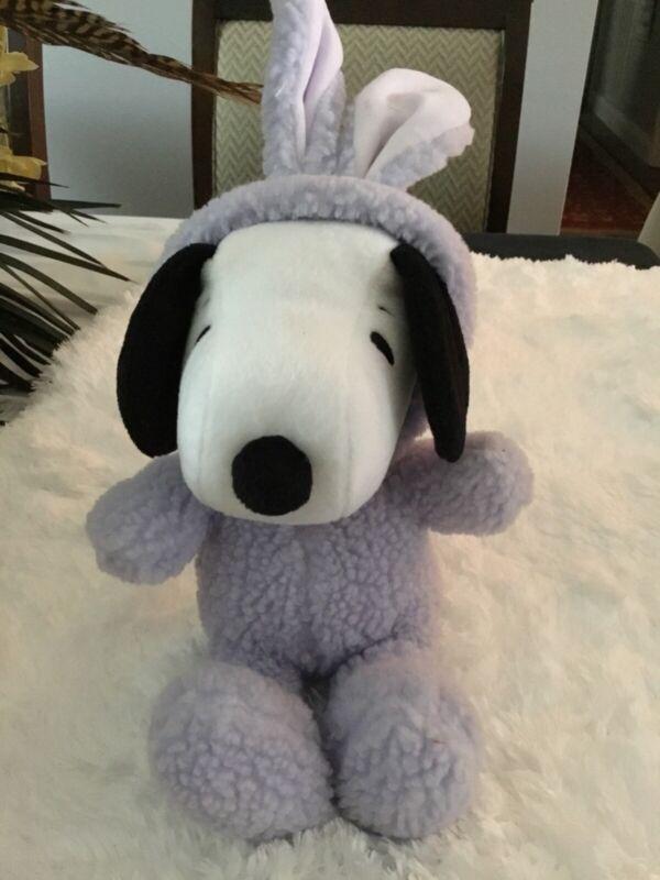 Hallmark Peanuts Snoopy Plush in a Easter Bunny Suite Purple