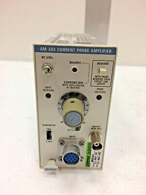 Tektronix Am 503 Current Probe Amplifier Plug-in Module