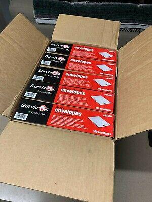 5 Packs Of Survivor Quar1460 9x12 Tyvek Redi-strip Envelopes New 500 Total