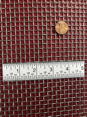 Woven 304 Stainless Mesh 4 Wire Diameter .047 Openings .203 12x24