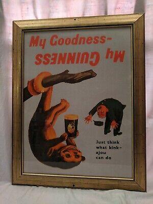 My Goodness My Guinness Vintage advertising poster art reproduction Tilted Kilt